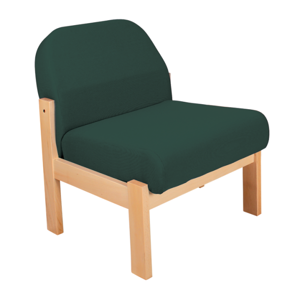 Deluxe Wooden Low Easy Chair