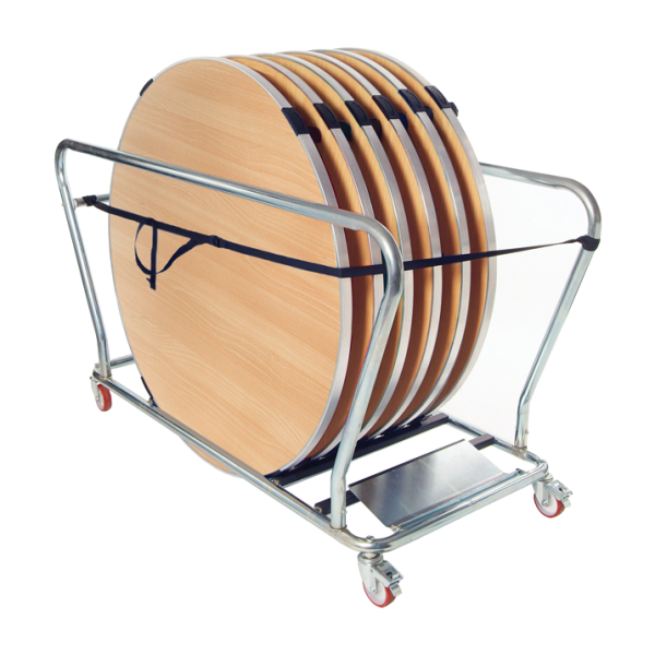 Round Tables and Table Trolley Bundle