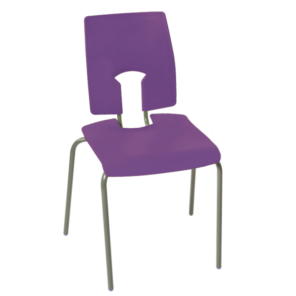 SE Stacking Chair Purple 460mm