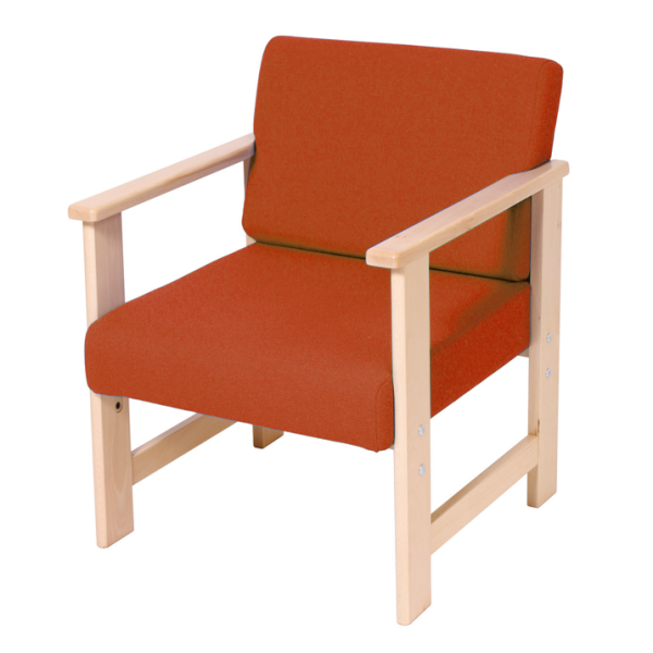 Wooden Low Easy Armchair