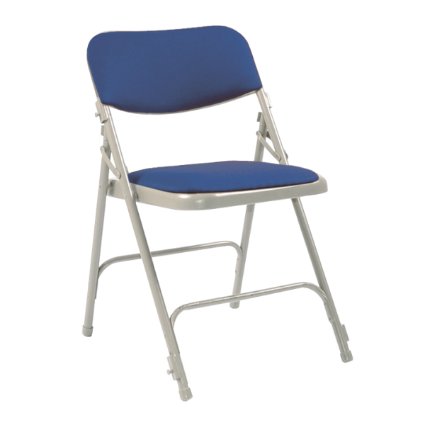 All Steel Folding Upholstered Chair with Link