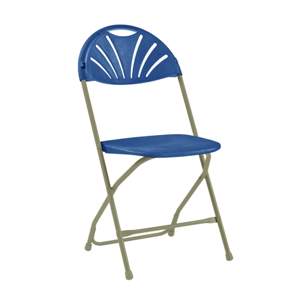 Comfort Poly Folding Chair Blue