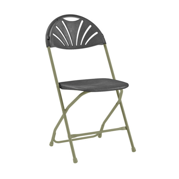 Comfort Poly Folding Chair Charcoal