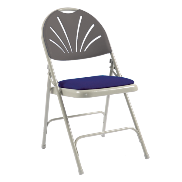 Comfort Steel Folding Chair with Upholstered Seat