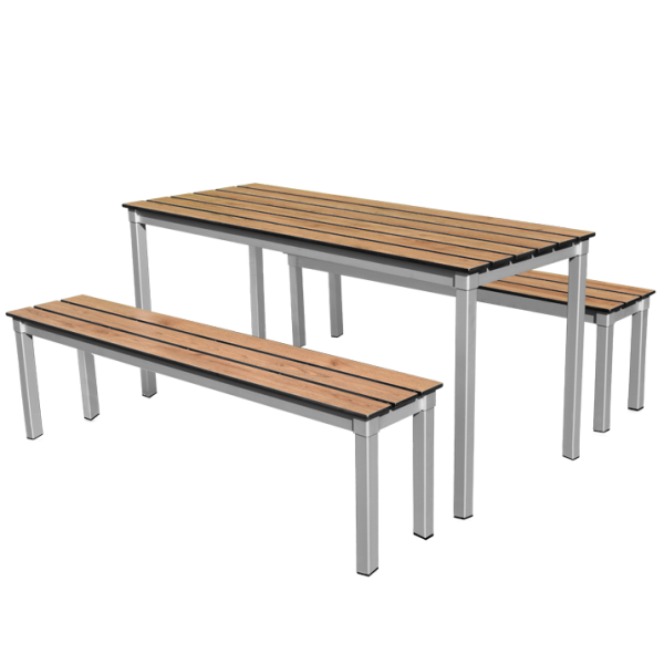 Enviro Compact Slatted Outdoor Table Set