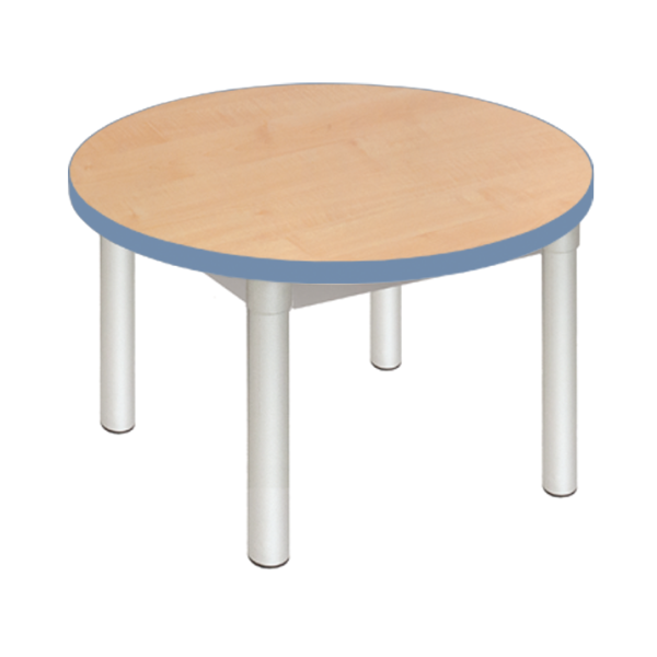 Enviro Coffee Table 600mm Round Silver Frame