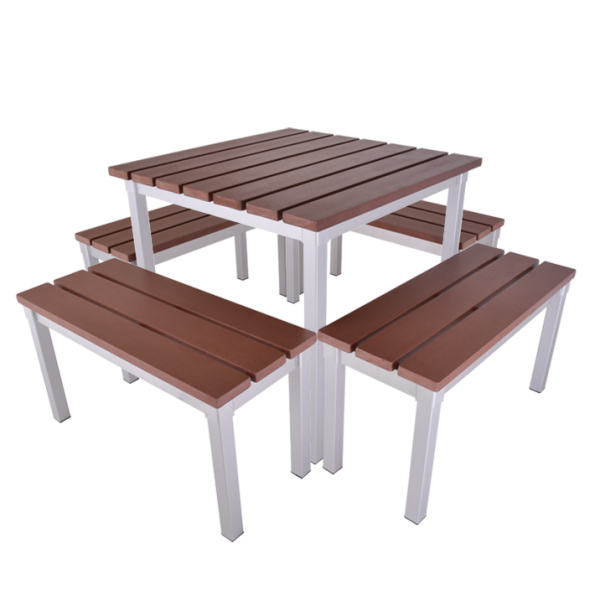 Enviro Outdoor Table Set 790 x 790 x 710mm High with 790mm Bench