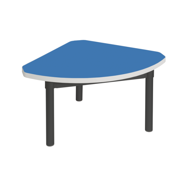 Enviro Coffee Table 600mm Quadrant Black Frame