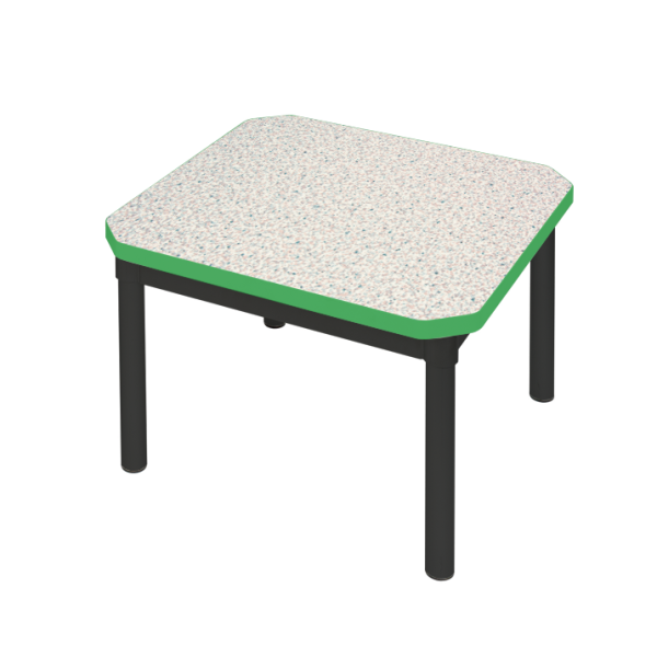 Enviro Coffee Table 600 x 600mm Black Frame