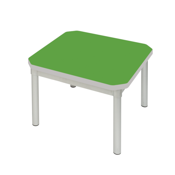Enviro Coffee Table 600 x 600mm Silver Frame