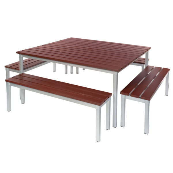 Enviro Outdoor Table Set 1250 x 1250 x 710mm High