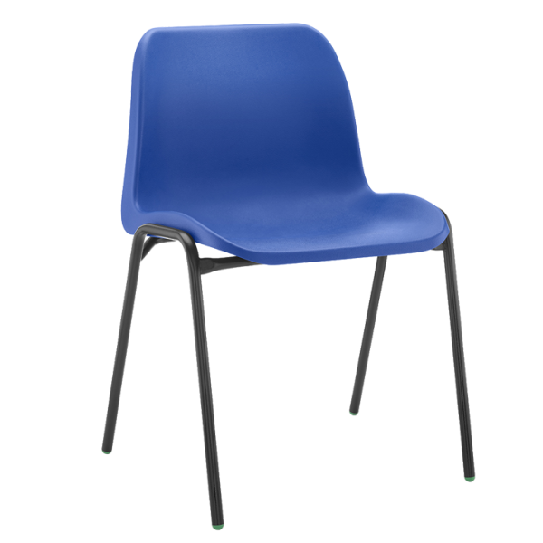 Affinity Antimicrobial Blue Stacking Chair