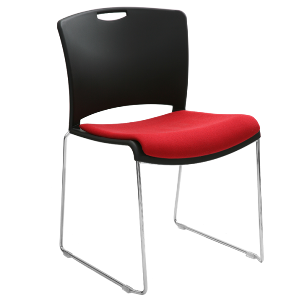Jasper Stacking Chair with Upholstered Seat