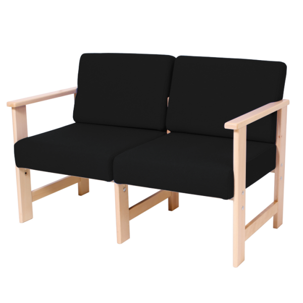 Wooden Two Seater Settee